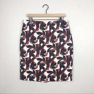 Ann Taylor floral brocade pencil skirt career